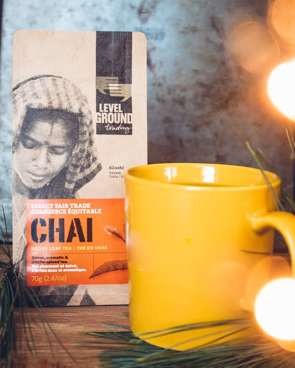 Nine smalll-scale tea growers in India grow you sweet and playfully spiced  Chi Tea  on their farms. *mug not included