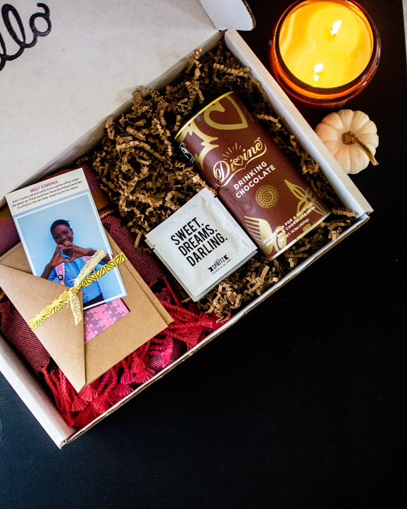 Fall - Dreamer Box - Your box is supporting dreamers of all ages -- you're sending encouragement to survivors, helping send girls to school in Mozambique, supporting artisans & farmers and more!