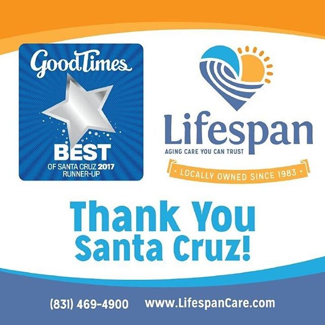 Thank you Santa Cruz! We are THRILLED to be this year's runner up. #2018goingforgold #santacruz #keepitlocal #santacruzlife #community #homecare