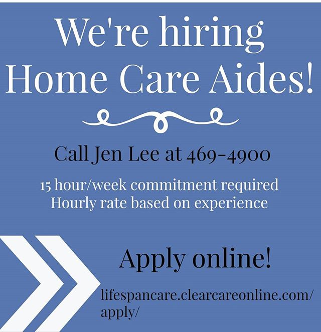 Join us and become part of a local business dedicated to making a difference in the lives of our aging community. Flexible hours and no experience necessary!