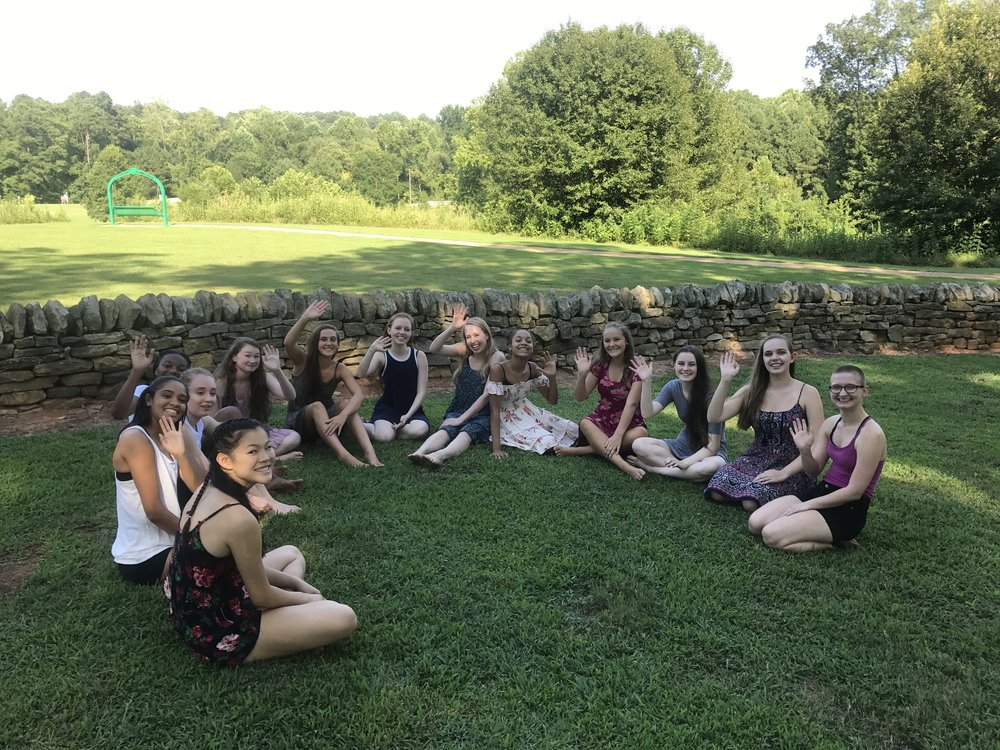 Waiting to be interviewed for the Festival reel, dancers of Destiny Dance Institute and Franklin Academy are having a chat Kaitlin Clow about what inspired them to become dancers and what dance means in their lives.