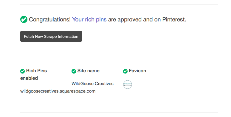 How to set up rich pins on squarespace