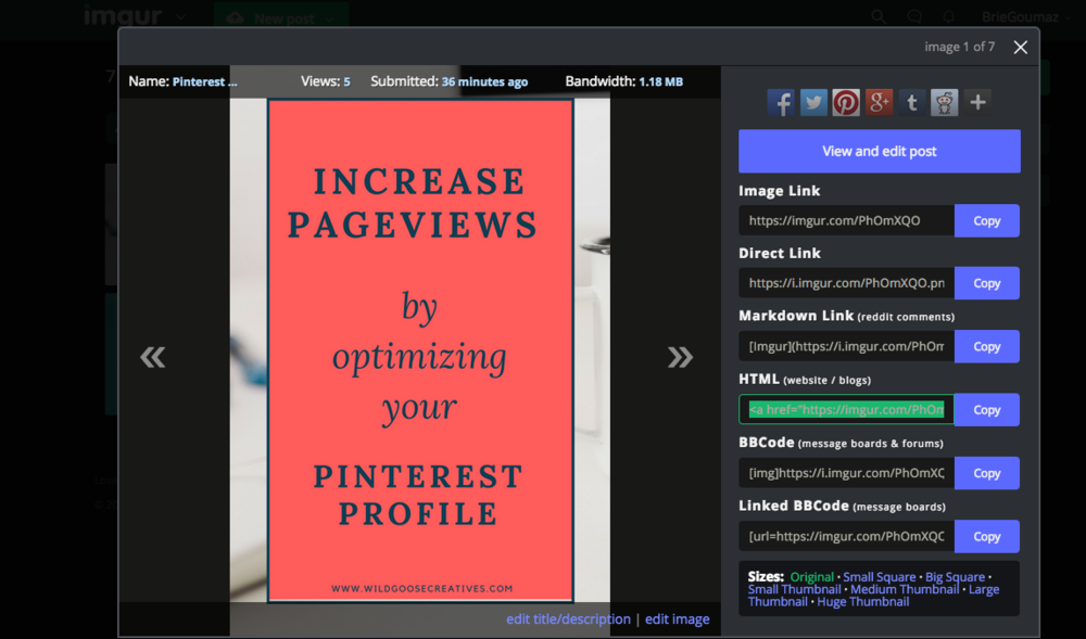 How to hide Pinterest Images inside Squarespace.