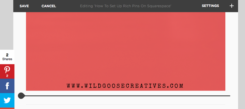 How to hide Pinterest images in your squarespace blog