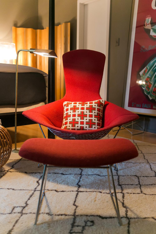 Original Bertoia Bird Chair in residence
