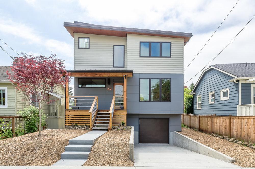 Photo Credit: Grouparchitect // Architect: Grouparchitect // 3 beds, 2 baths, 4 modules, site-built garage below, 2200sf