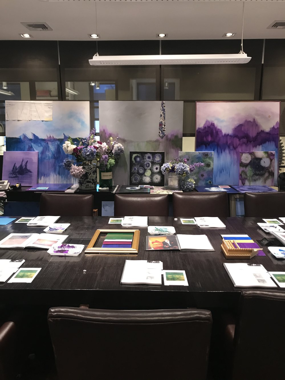 Image provided by Barry Lantz Art. Shot during Barry's presentation at Kravet headquarters.