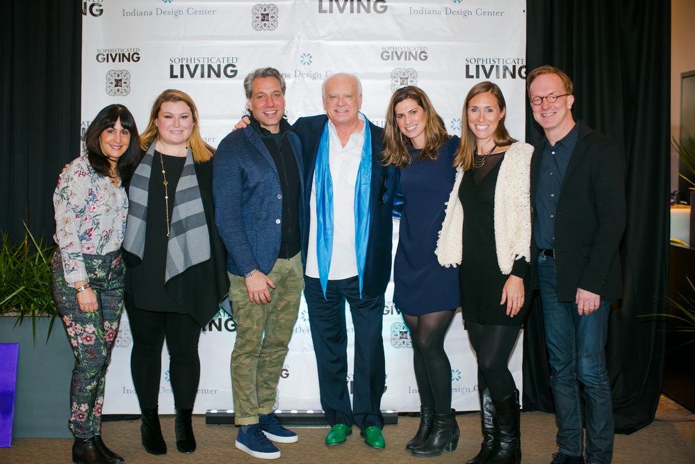 A Lantz Design, Kravet, team members from Indiana Design Center, and Thom Felicia at LUXE 2018