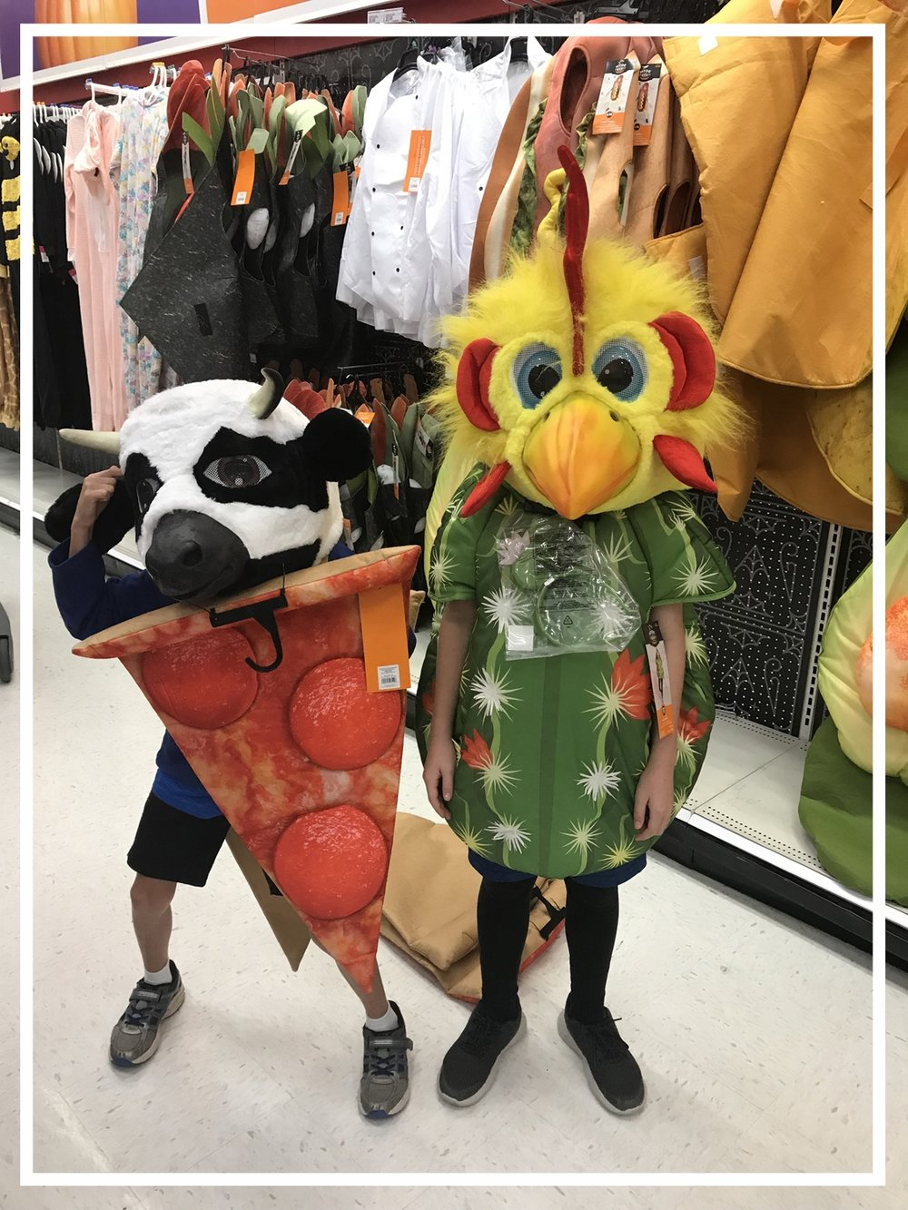 7 Tips to Recycle and Organize Your Halloween Costumes - Chicken Head.jpg