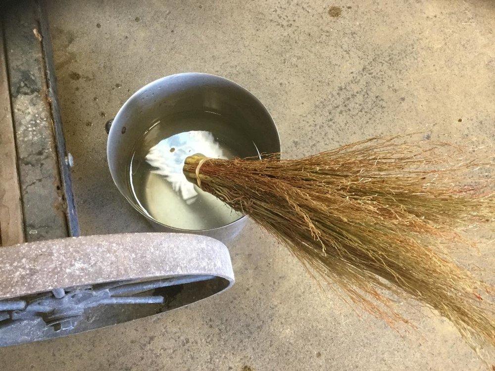 Soaking for easier weaving