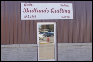Badlands Quilting - Vickie VanderMay, OwnerPO Box 1020, Main Street, Martin, SD 57551605-685-1209Email vandrmay@gwtc.netQuilting/ Fabric/ Sewing Supplies