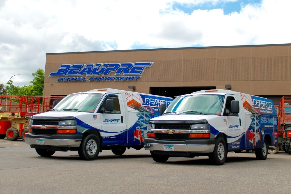 Beaupre Aerial Equipment Service Vans