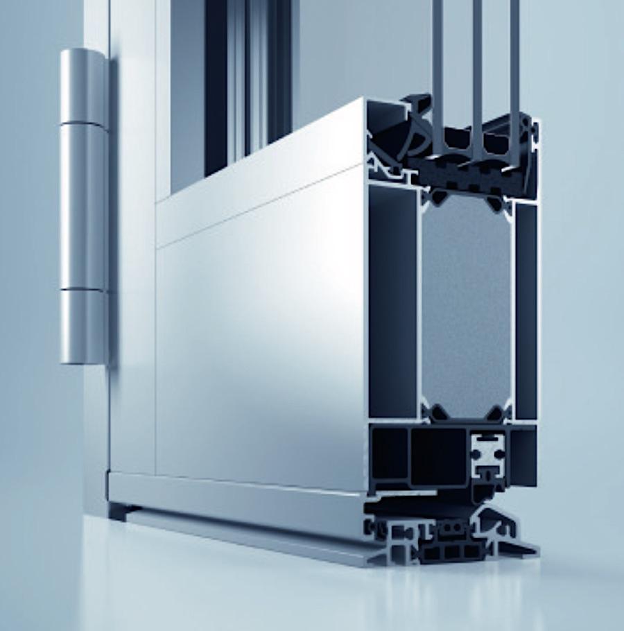 Heroal D72Flächenbündig - » Bautiefe: 72/82 mm» Luftdurchlässigkeit: Klasse 4» Schlagregendichtheit: 5A» Wärmedämmung: UD ≥1,0 W/m2K» Schallschutzklasse: 1 – 3» erfüllt alle Anforderungen der aktuellen EnEV 2014» Zertifizierung Einbruchhemmung bis Widerstandsklasse RC 3für Profil-, Beschlag- und Füllungstechnologien» hochwärmegedämmtes 3-Kammer-Profilsystem