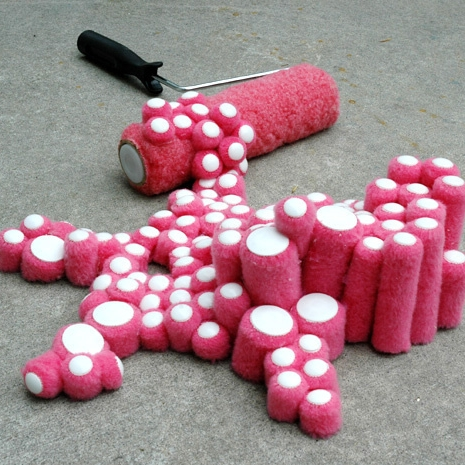 Pink Paint Roller  Paint rollers, glue