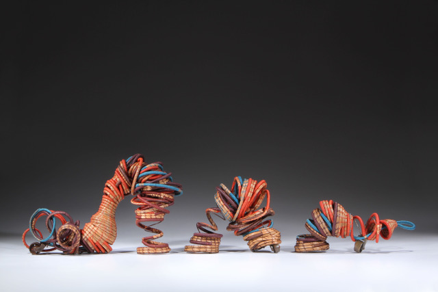 "Batteries Not Included , 2015, Basketry, 10"" X 14"" X 5"" ( 3 pieces various sizes)"