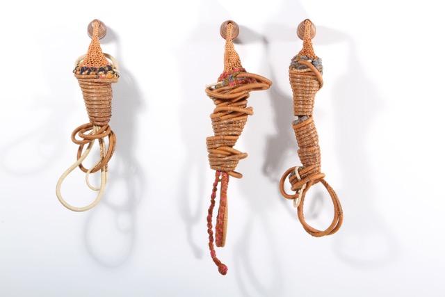 """Trio, 2014, Basketry, 13"""" X 14"""" X 17"""" (3 pieces various sizes)"""