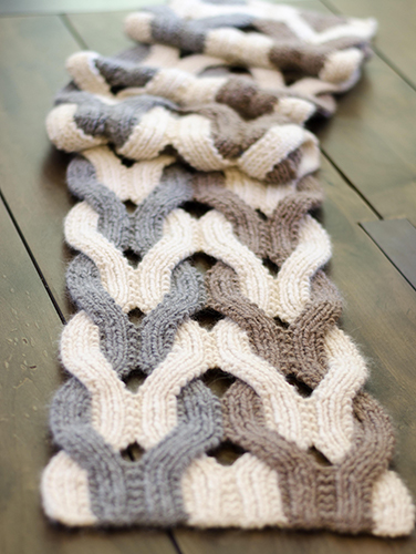 Japanese Weave Wrap, knitting pattern