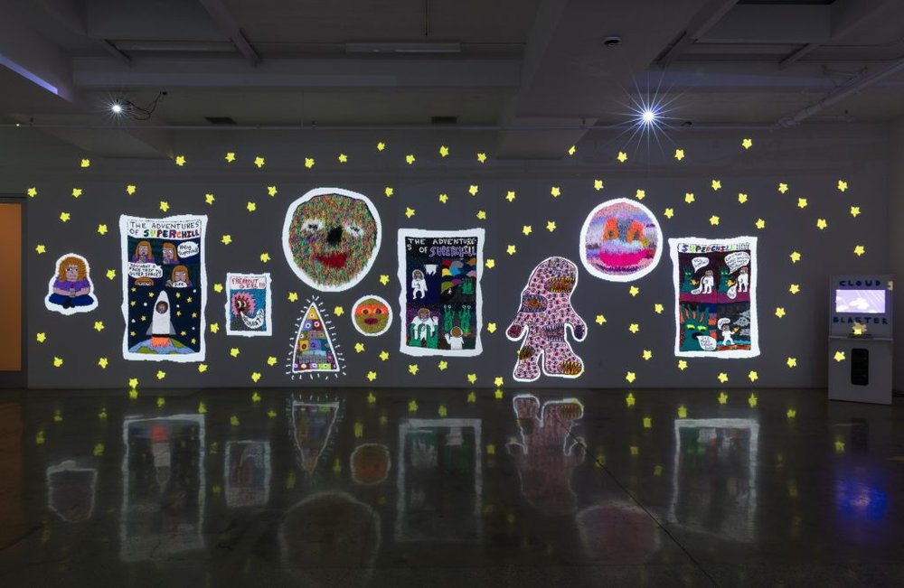 Hannah Epstein. Do You Want A Free Trip To Outer Space? , Installation View, Steve Turner, January-February 2019