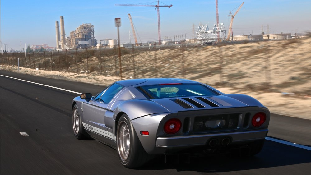2005 Ford GT Tungsten Grey stripe delete