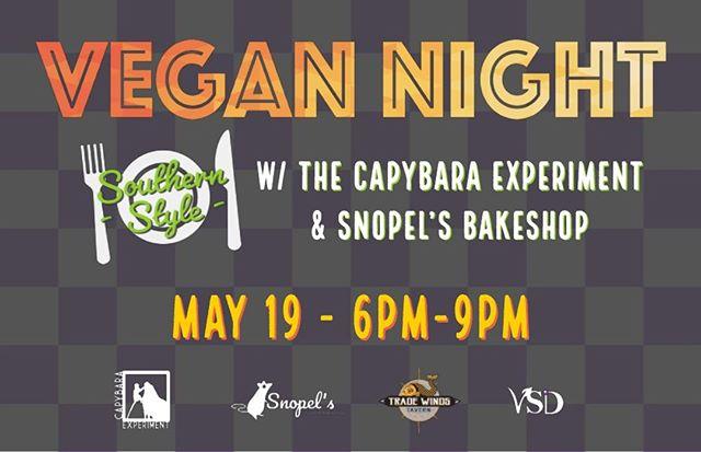 @TradeWindsTavern 's next Vegan Night will features Southern Style Vegan Food by @CapybaraExperiment and @SnopelsBakeShop 🍻  Don't miss out! Ticket and info link in bio!🎟 . . . . . #vegan #foodandwine #youstayhungrysd #vegansofig  #feedyoursoull #sdvegans #veganmarket #foodandwine #foodblogfeed #veganfoodshare #sandiegoliving #lovefood  #igerssandiego #nothingisordinary #forkyeah #cheatmeal #flatlay #tastingtable #infatuation #eatingfortheinsta #veganinsandiego #eattheworld #allthingssd #heresmyfood #veganinsd #eater #sandiego_ca  #spoonfeed #dailyfoodfeed #tradewindstavern