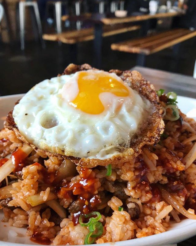 "pair your favorite beer🍺 with our Kimchi Fried Rice🔥 and say yes if our servers ask ""would you like to add an egg?""🍳🙌🏼 Repost: @eweezee72"