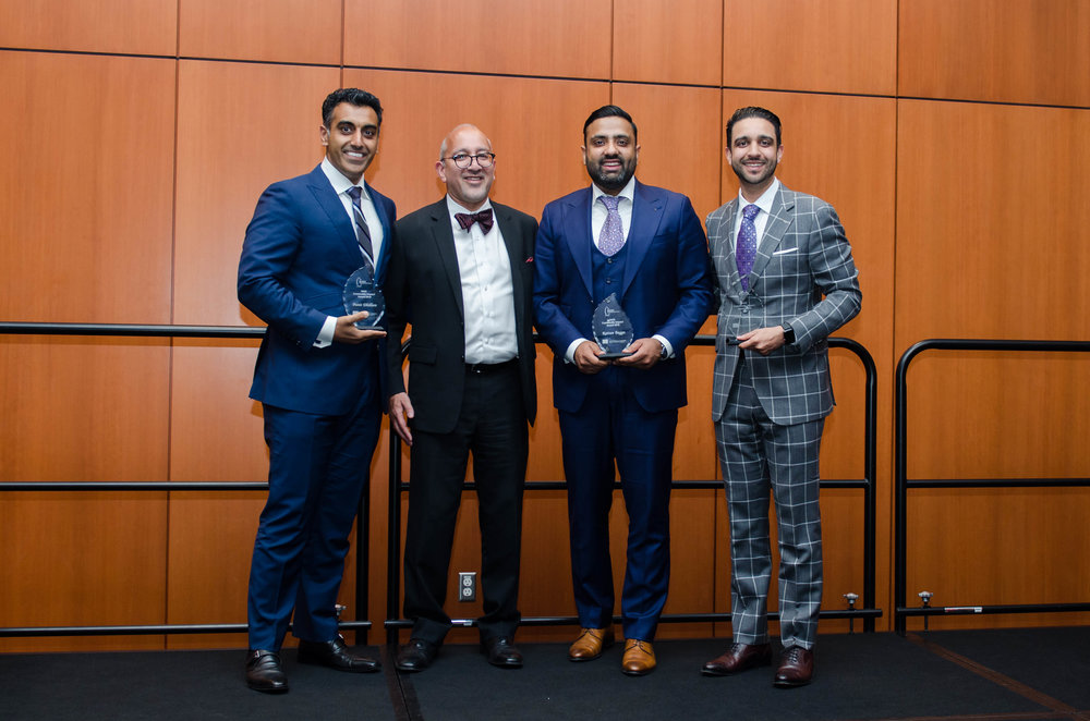 Community Impact Award Recipients 2018: Amit Sandhu, Punit Dhillon, and Rattan Bagga