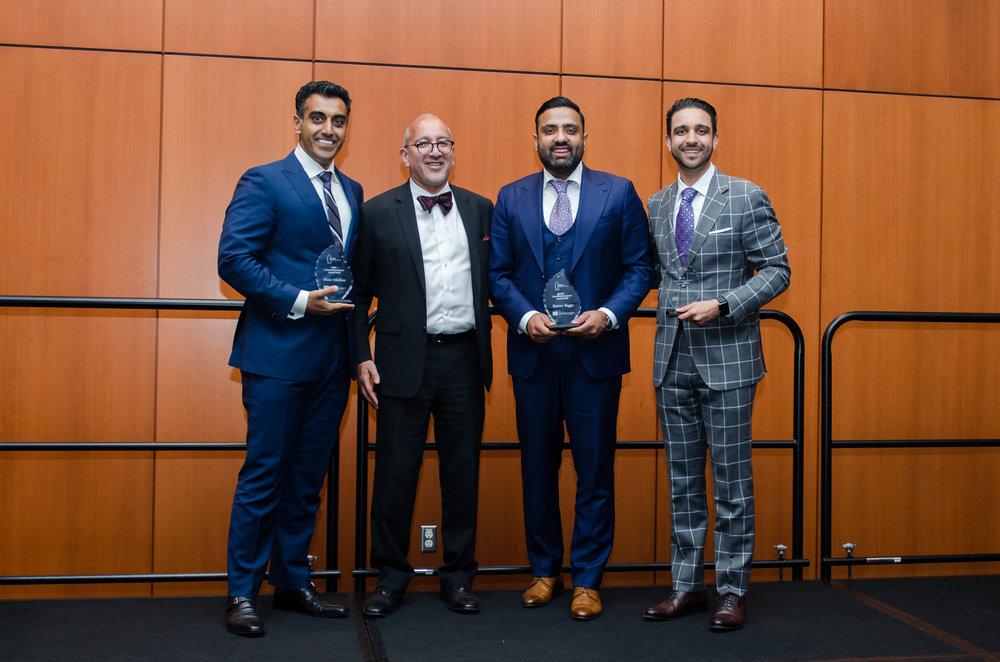 Community Impact Award Recipients 2018: Amit Sandhu, Punit Dhillon, and Rattan Bagga