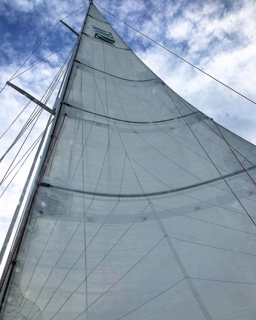 Fully Battened main sail