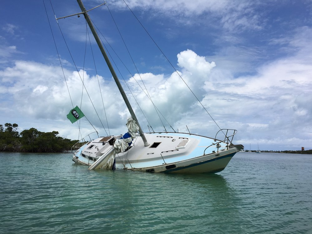 We were glad we didn't run THIS MUCH aground.