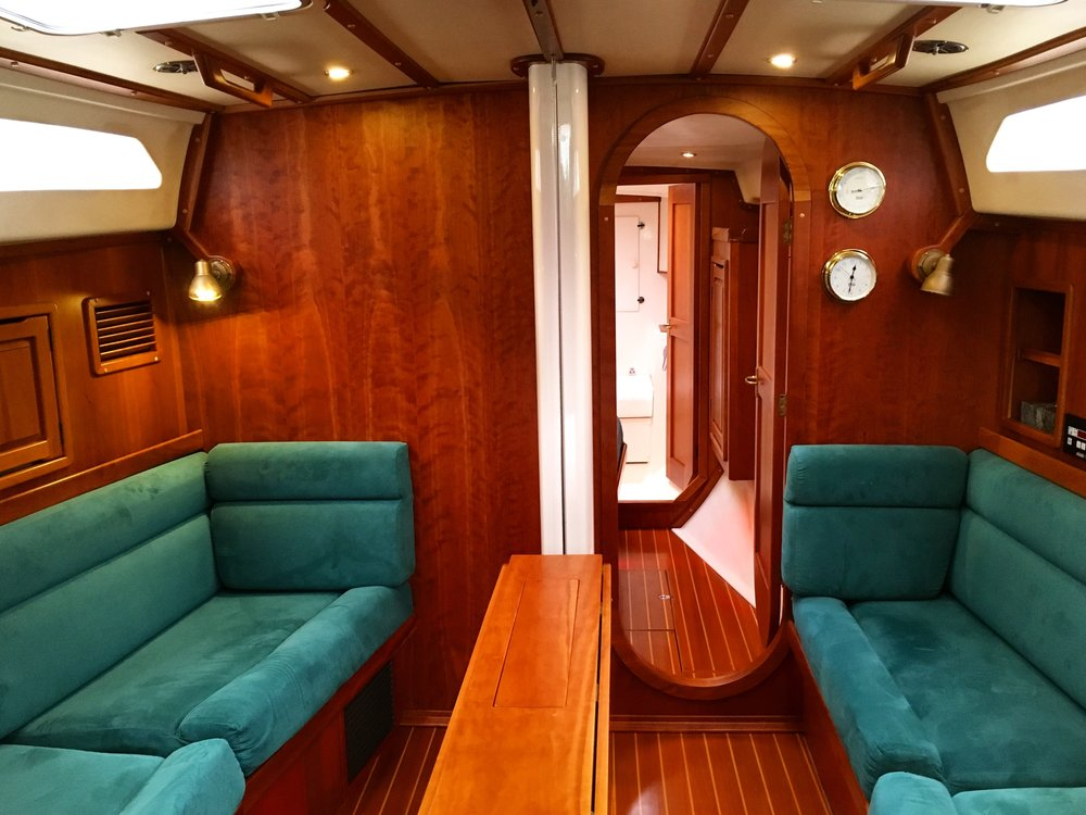 Salon/living room/dining room/beds while we're on a passage at sea/all purpose area