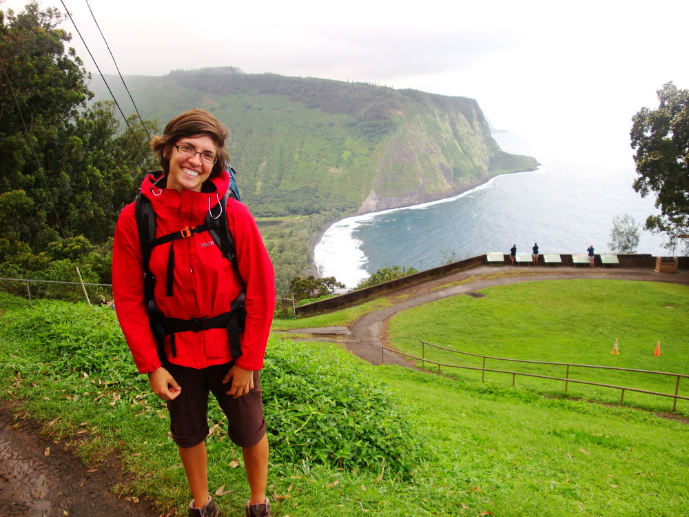 Falling in love with travel in Hawaii's Waipi'o Valley. Circa 2010, look at that hair!