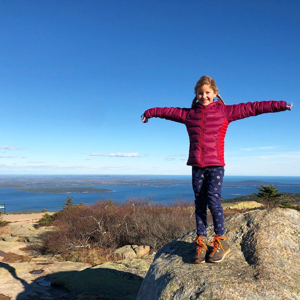 Atop Cadillac Mountain, sans the crowds!