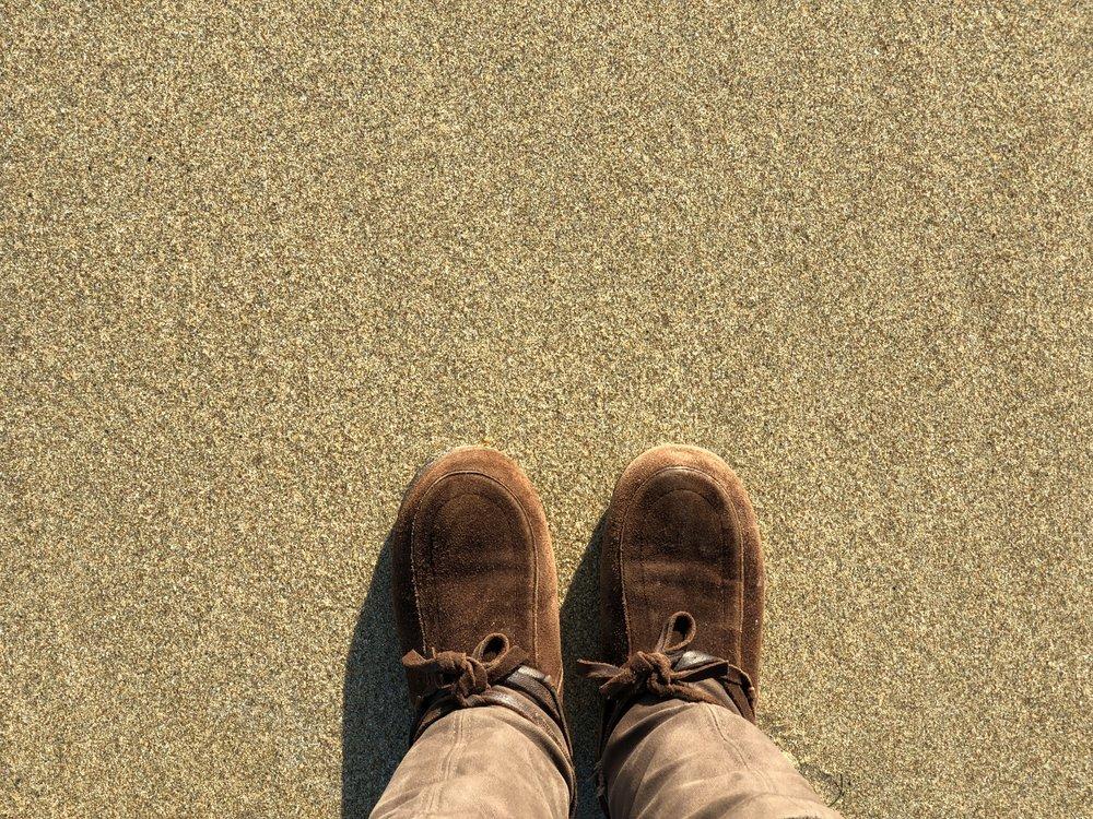 I've never worn my Mukluks to the beach.