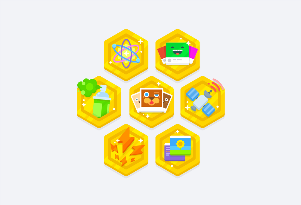 Kano World Badge System – I worked with the product team to design and illustrate more than 30+ unique badges for Kano World's reward system.