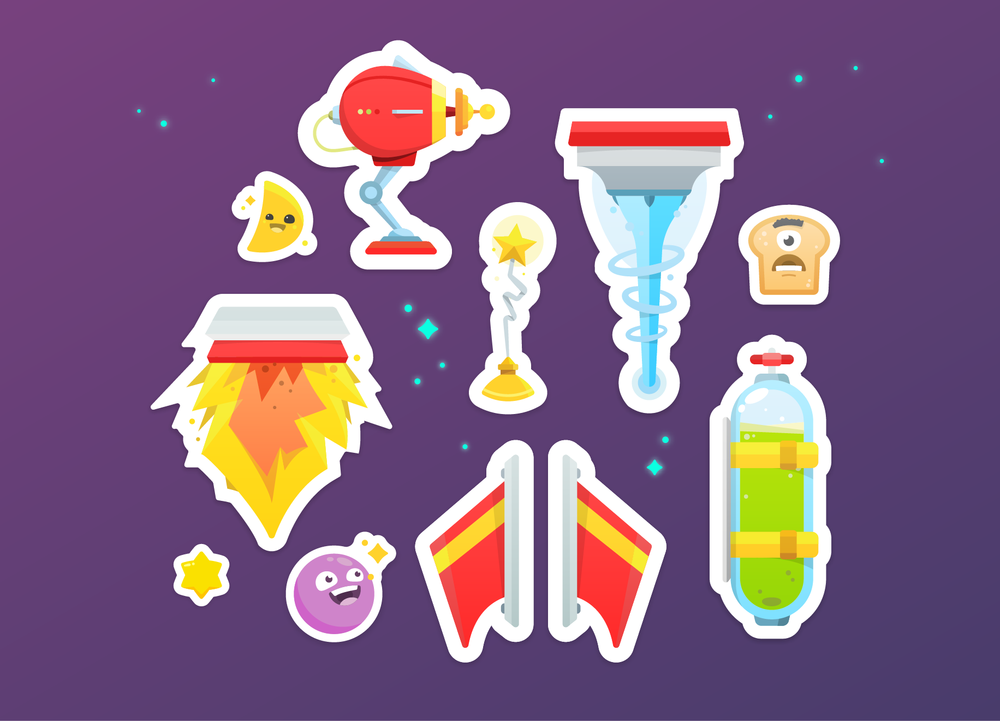 ⋮ Space Stickers (coming) →