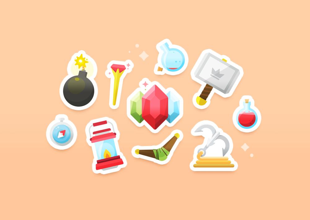 Quest! Illustration set – A set of 30 multipurpose, adventurous pieces.