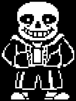i'm sans. sans the skeleton