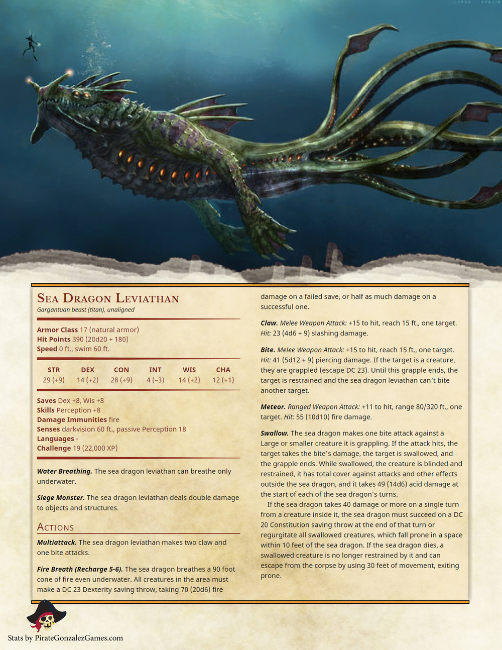 Sea Dragon Leviathan