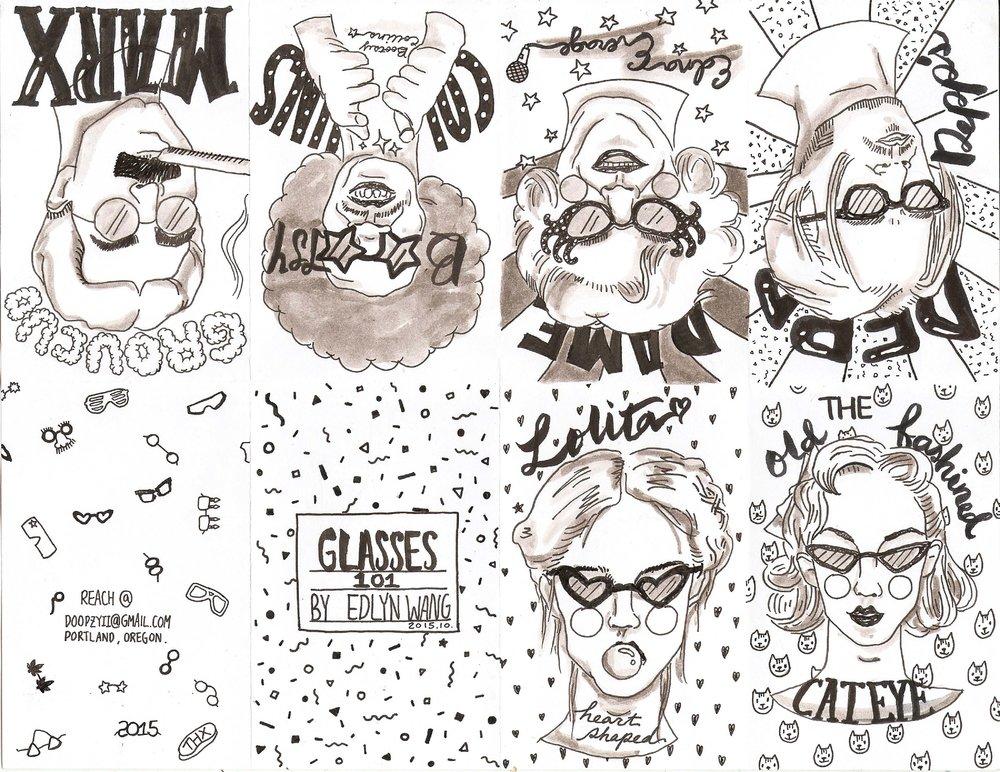 Glasses 101   zine project