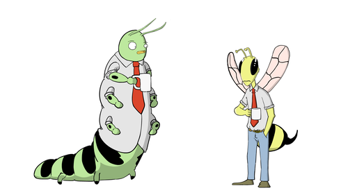 Bug Workers Concept
