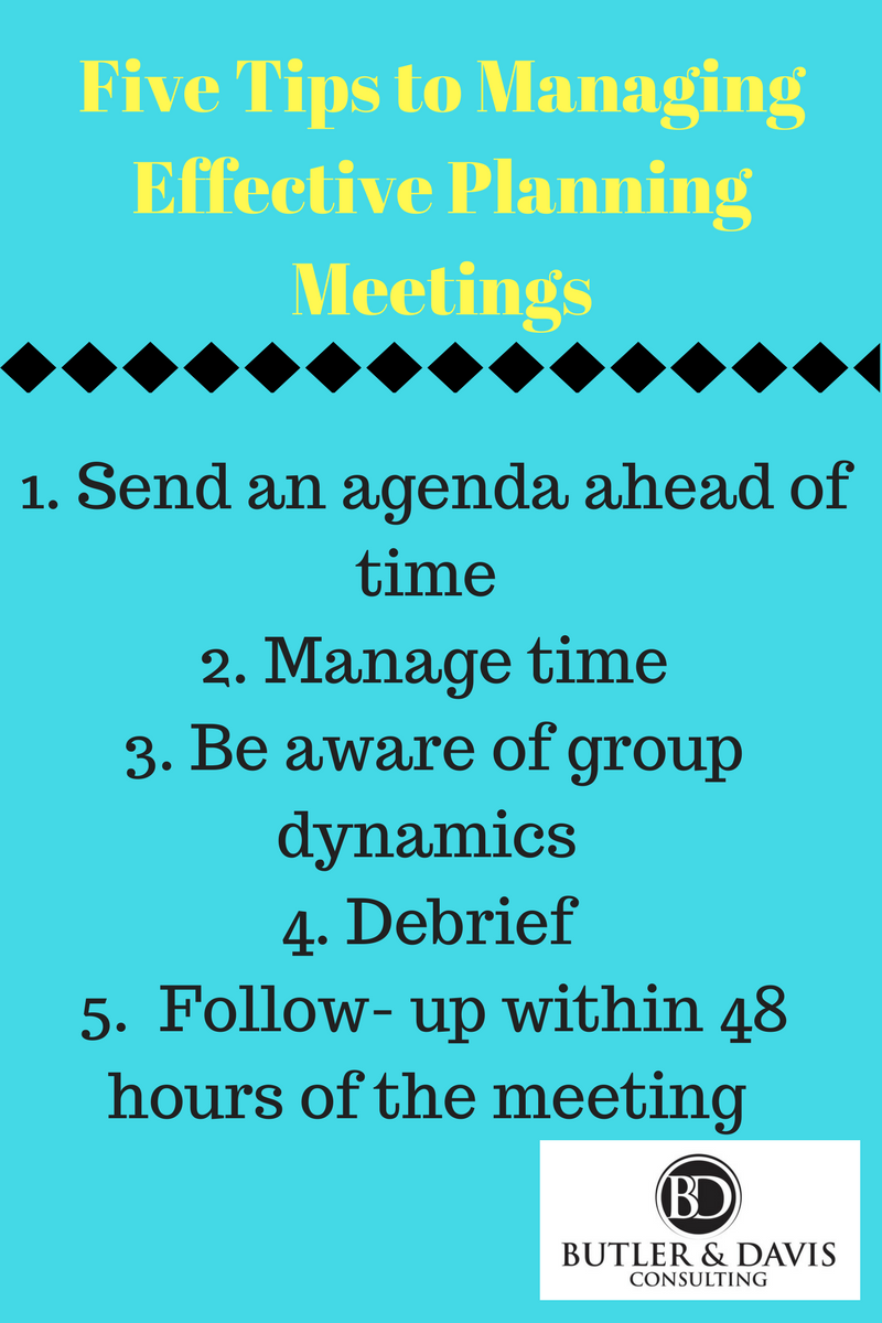 Five Tips for Managing an Effective Meeting