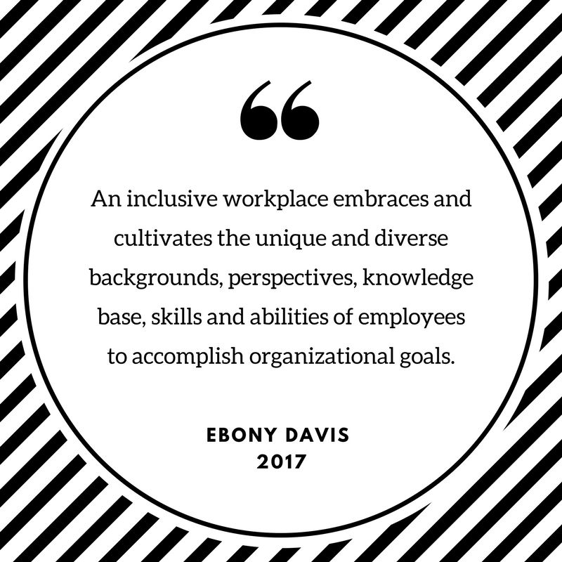 An inclusive workplace embraces and cultivates the unique and diverse backgrounds, perspectives and abilities of employees to accomplish organizational goals..png