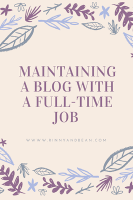 Maintaining a blog with a full time job can be tough. Read all about what we've been doing and let us know about your tips!