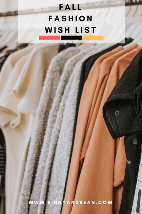 Fall Fashion Wish List | Fall Fashion Outfit Ideas