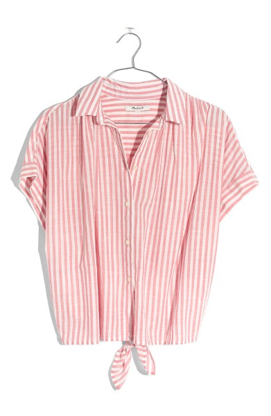 - Central Tie Back Stripe Shirt- Madewell $69.50 I love stripes and the tie in the back of the shirt is something different that I don't always see.