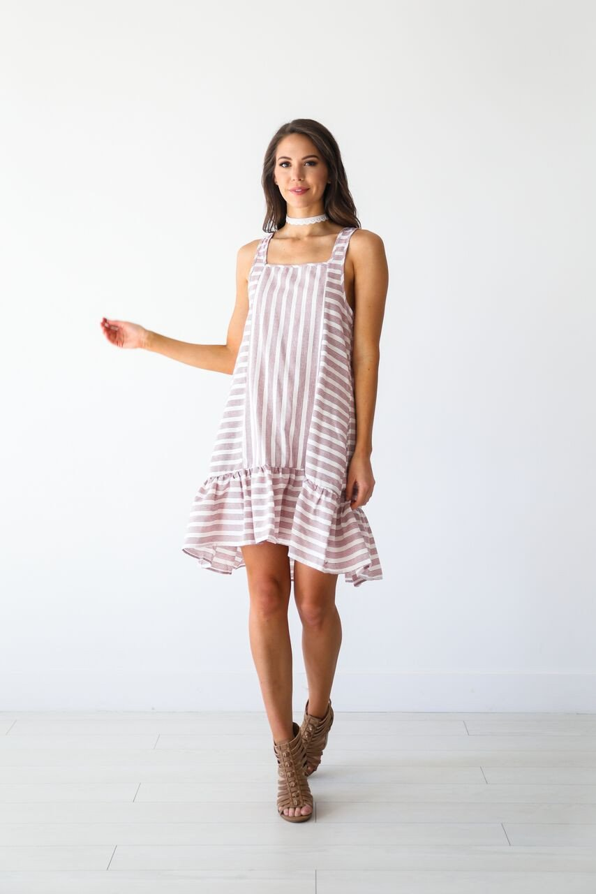 - Cherry Striped Dress- Luca and Grae $28 It's on sale!! If you can see, I love stripes and this dress is super cute and fun.