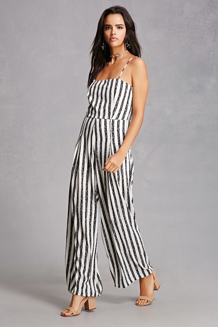 - Stripe Pleated Jumpsuit- Forever 21 $35I looove jumpsuits and the stripes make it super cute!!