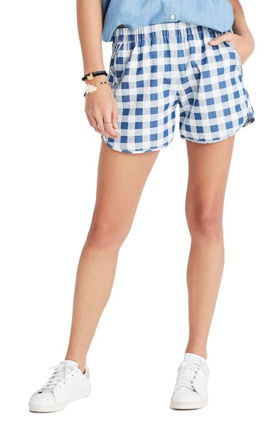 - Gingham Check Pull- On Shorts I actually have these shorts already and they are sooo comfy. They are super trendy with the gingham print.