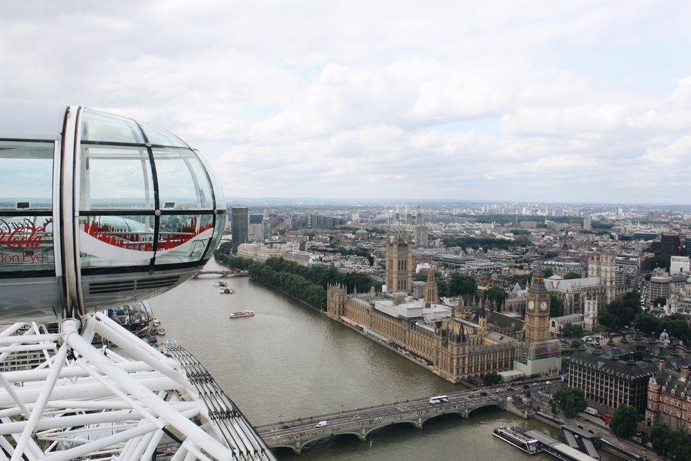 View from the London Eye!! So pretty!!