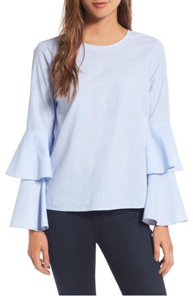Bell Sleeve Poplin Top- Chelsea 28 - Sale: $58.90After Sale: $89.00